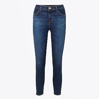 J Brand - Alana - High Rise Crop Skinny Jeans - Blauw