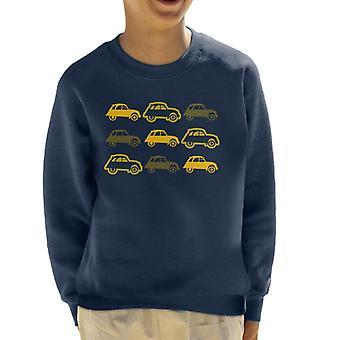 Citro�n Vintage 2CV Pattern Kid's Sweatshirt