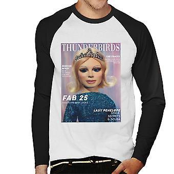 Thunderbirds Lady Penelope Magazine Fab 25 Design Men-apos;s Baseball T-Shirt à manches longues