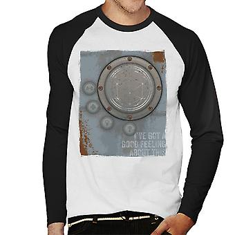 The Crystal Maze Lighter Good Feeling Rust Panel Men's Baseball Long Sleeved T-Shirt