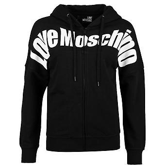 Love Moschino Chest Logo Flex Hooded Jacket