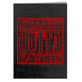 Outta Hawkins Stranger Things Greeting Card