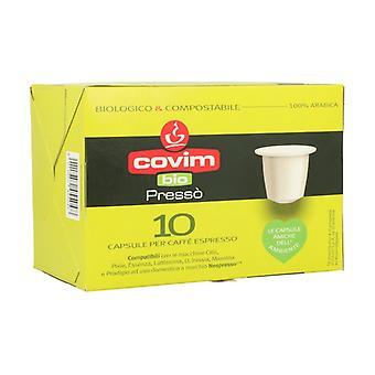 100% Arabica Organic and Compostable Espresso Coffee 10 capsules