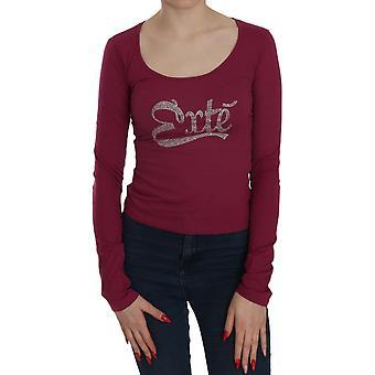 Crystal verfraaid long sleeve casual top - TSH3696880