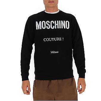 Moschino 17085227j1555 Men's Svart Bomull Sweatshirt