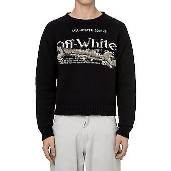 Off-white Omhe054f20kni0031001 Männer's schwarze Baumwolle Sweatshirt