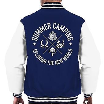 Summer Camping Monster Hunter Men's Varsity Jacket