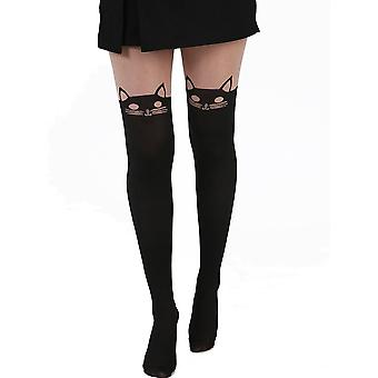 Pamela Mann Kitty Cat Over The Knee Tights