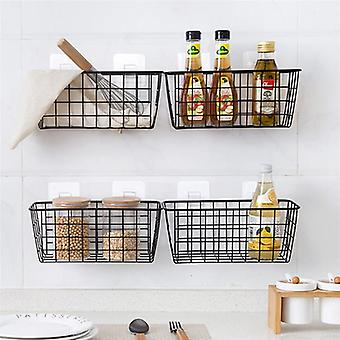 Rectangular Wall Hanging Rack, Storage Box, Organization For Kitchen Bathroom