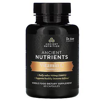 Dr. Axe / Ancient Nutrition, Ancient Nutrients, Vitamin C + Probiotics, 60 Capsu