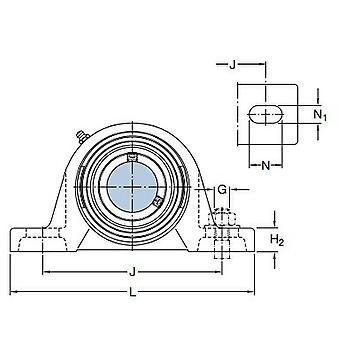 SKF FNL 522 B Square Flanged Housing For Bearing On An Adapter Sleeve