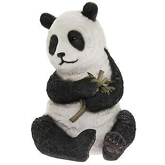 Panda sitting design ornament for hjem og hage dekorasjon