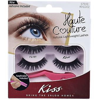 Kiss Haute Couture Natural Lightweight Lash Multipack - Flirt with Applicator