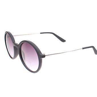 Sunglasses Unisex matt black with purple lens (ml6665)