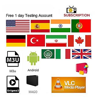 1 Year Ip Tv Europe Hd Arabic Sports Usa Smart Tv India Latino  Spain Portugal