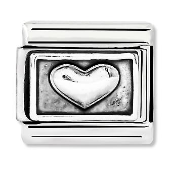 Nomination Classic Oxidised Heart Link Charm 330102/01