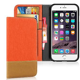 Apple iPhone 6 Plus/6s Plus Shell Denim Magnet Mobile Shockproof Protection Leatherette