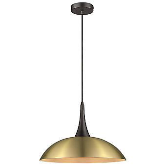 1 Light Dome Tak Hängande Antik Mässing, Svart, E27