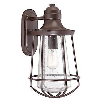 1 Light Large Outdoor Wall Lantern Western Bronze IP44, E27