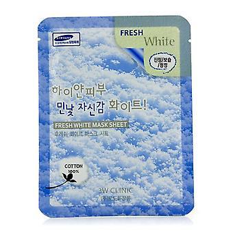 3W Clínica máscara Sheet - 10pcs blanco fresco