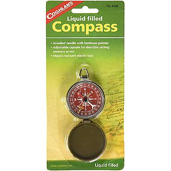 Coghlan's Liquid Filled Pocket Compass met Case, Survival Camping Outdoors