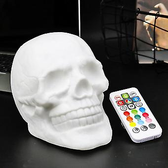 Telecomandă Color Changable Touch Sensor Skull, Led Night Light Lamp Cu