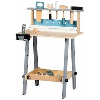 Estação de trabalho de madeira - oficina infantil - 32 partes