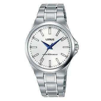 Lorus Ladies Edelstahl Armbanduhr mit weißem Sunray Zifferblatt (RG233PX9)