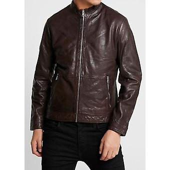 Adron Brown Soft Leather Jacket