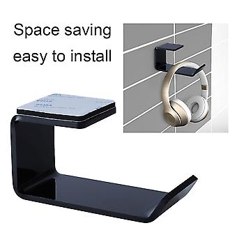 Headphone Bracket Wall Mounted Headset Holder Hanger Under Desk Hook Earphone Sticky Display Stand