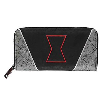 Black Widow Purse Symbol Logo new Official Black Zip Around