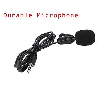 Clip-on Lapel Lavalier Microphone 3.5mm Jack For Iphone Speaking / Singing Speech Smartphone Recording Pc Tie Clip Microphone (black)