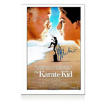 Ralph Macchio Signed Karate Kid Poster