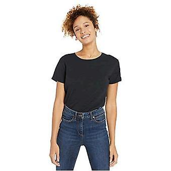 Brand - Goodthreads Women's Vintage Cotton Roll-Sleeve Open Crew T-Shirt