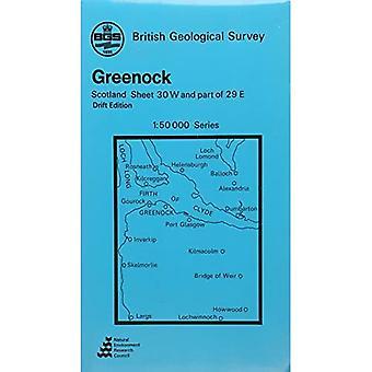 Greenock: Drift Geology Map (1: 50 000 Series Geological Maps (Scotland))