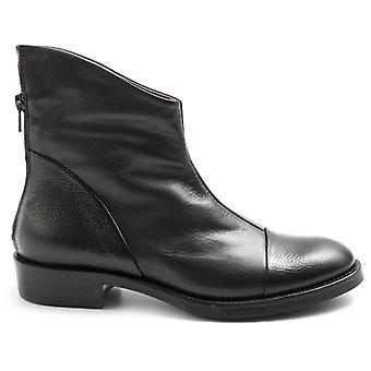 Le Bohemien Zwart Lederen Dames enkelschoen