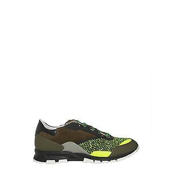 Lanvin Fmskdrlmvvel47 Men's Green Leather Sneakers