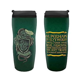 Harry Potter Travel Mug Slytherin Crest new Official Green 355ml Plastic
