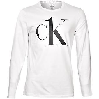 Calvin Klein CK1 Langermet Jersey Topp, Hvit