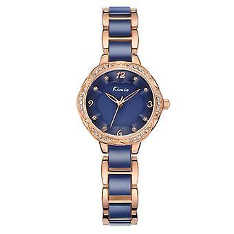 KIMIO KW6016M Fashion women Quartz Watch Luxury Rhinestones Ceramic Watch