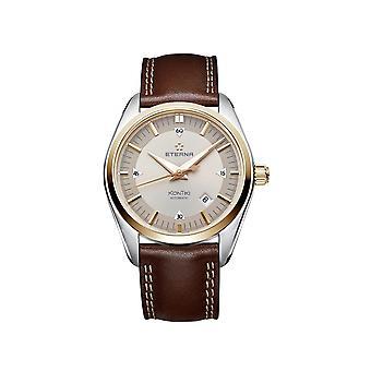 Luxury Eterna Swiss Made KonTiki Automatic Leather Strap Watch 122253511362