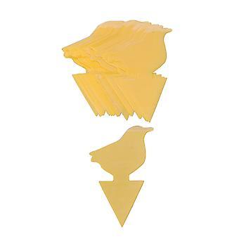 30 Stück Sticky Fly Trap Papier gelb Sticky Bug Traps Vogel Form