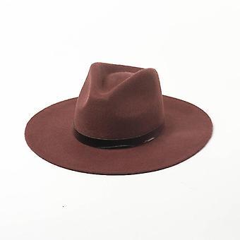 Klasické Pure Wool Pu Kožené Zimné Hat kostol Klobúk