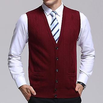 جديد أزياء العلامة التجارية سترة الرجال & apos;s كارديجان جاكار سليم تناسب البلوزات التريكو