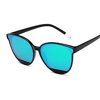 جديد وصول أزياء النظارات الشمسية المرأة خمر المعادن مرآة نظارات الشمس
