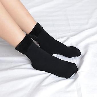 Winter Warmer Thicken Thermal Wool Cashmere Snow Socks Seamless Velvet Women