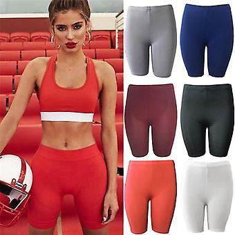 Womens Fitness Half High Waist Quick Dry Skinny Biker Tight Shorts