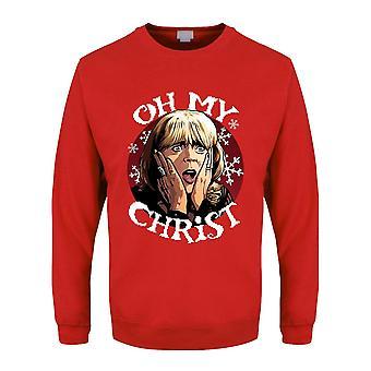 Grindstore Mens Oh My Christ Pam Weihnachtspullover