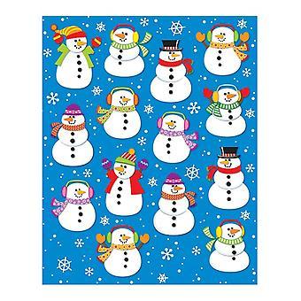 Autocollants en forme de bonhommes de neige, 84 autocollants