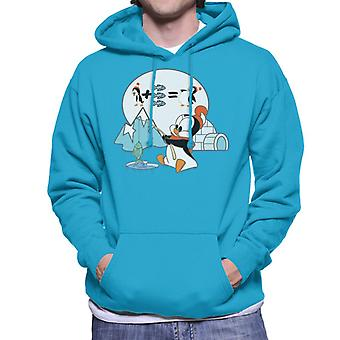 Woody Woodpecker Chilly Willy Fishing Men's Hooded Sweatshirt